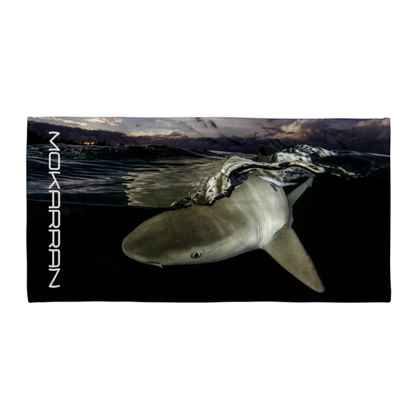 Scuba diving apparel: shark beach towel