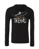 Scuba diving apparel: hoodie tiger shark. Color black