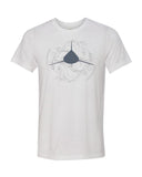 diverwear brand shark t-shirt white