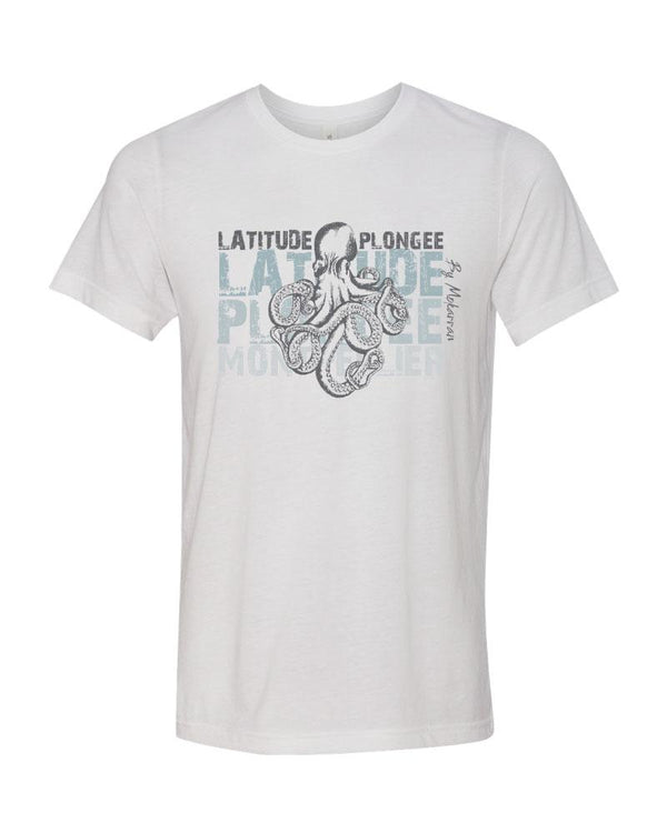 Scuba diving t-shirt for men with octopus
