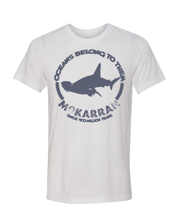 shark t-shirt white