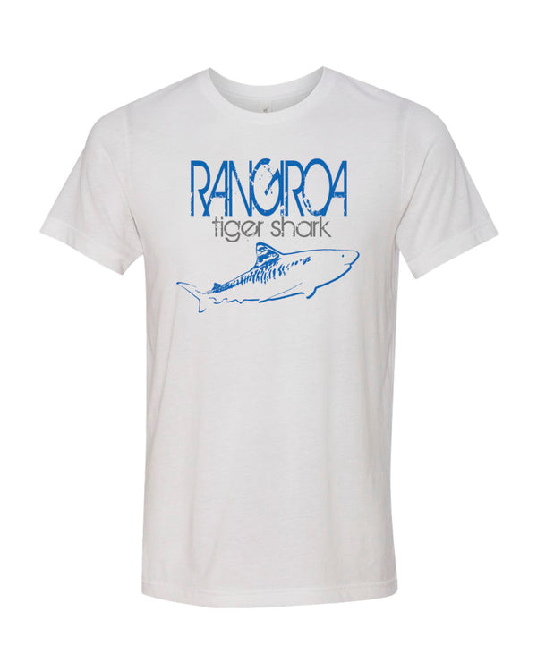 Rangiroa Tiger Shark White Scuba tee shirt