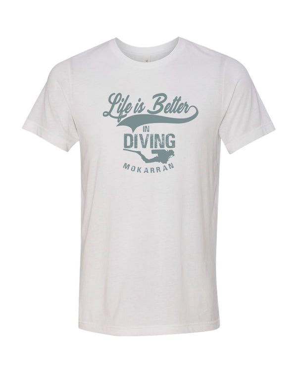 Scuba diving t-shirt for men with scuba diver