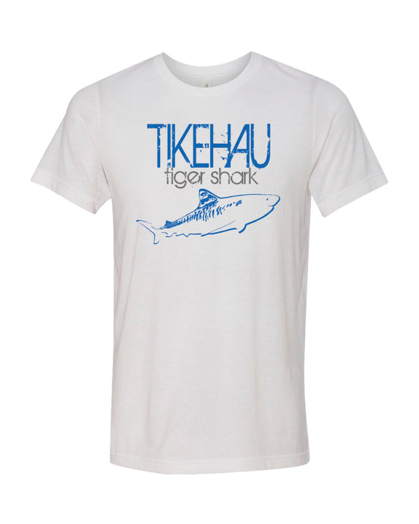 Tikehau Tiger Shark V2 White Scuba Tee Shirt