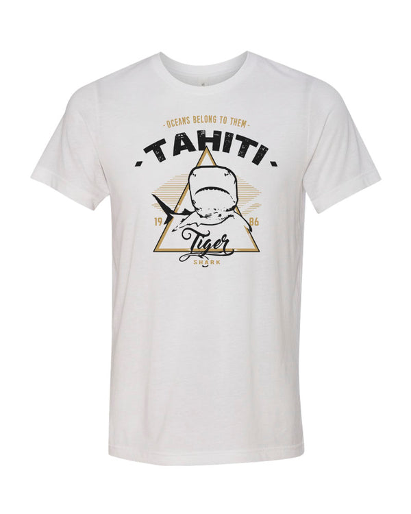 Tahiti Tiger Shark V1 White Scuba Tee Shirt