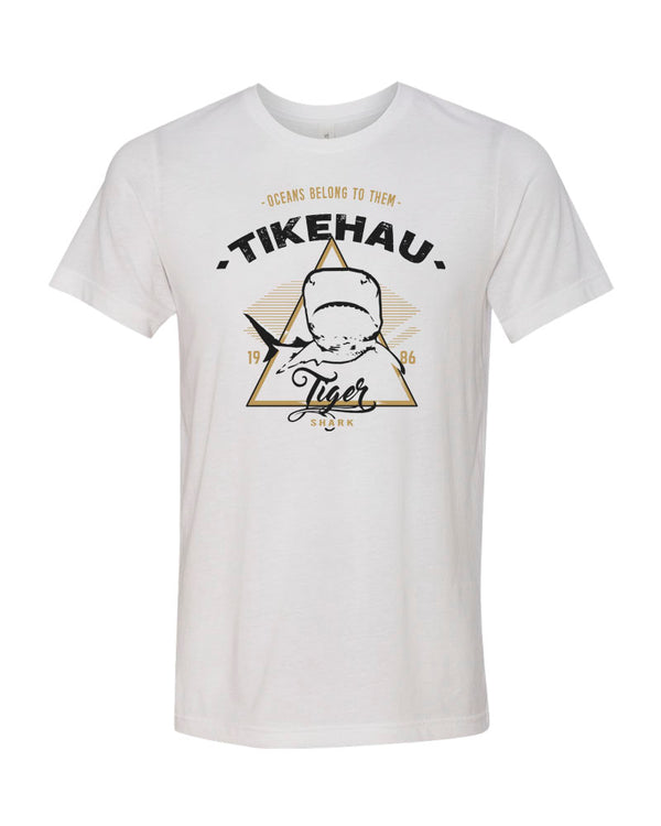 Tikehau Tiger Shark V1 White Scuba Tee Shirt