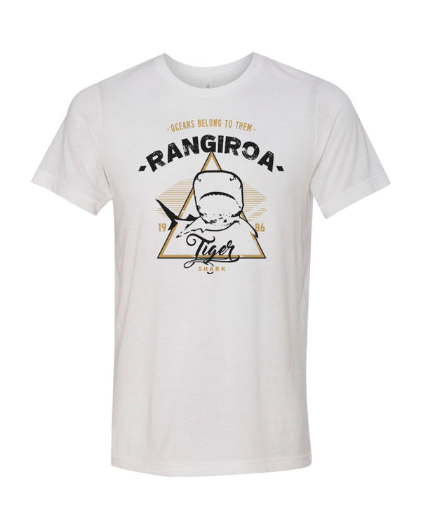 Rangiroa Tiger Shark V1 White Scuba tee shirt