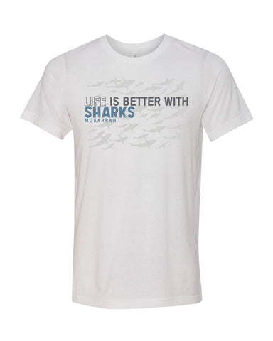 Scuba diving t-shirt for men with shark