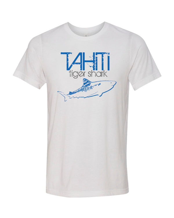 Tahiti Tiger Shark V2 White Scuba Tee Shirt