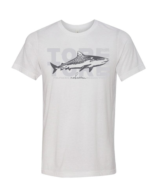 Scuba t-shirt Tiger shark white
