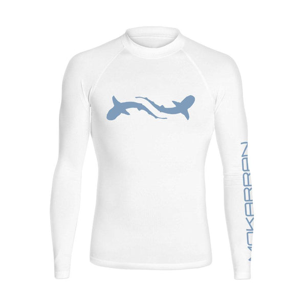 Scuba rash guard for men with shark