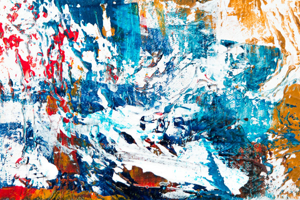 A blue abstract painting