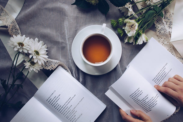 A tea time poetry coffee reading