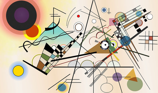 A graphical representation of composition viii by Wassily Kandinsky