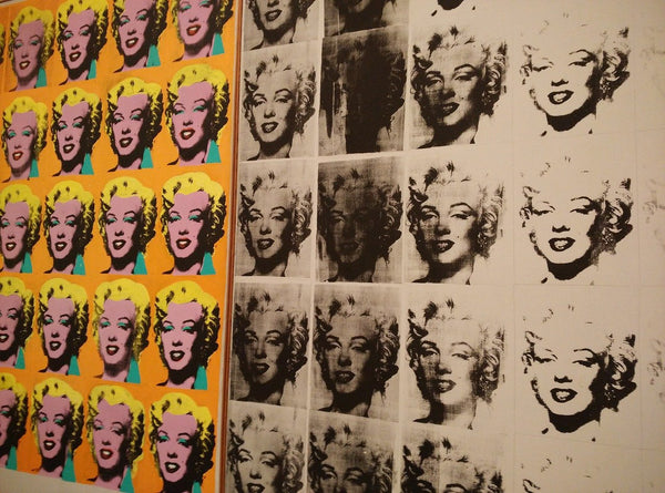 A painting by Andy Warhol of Marilyn Monroe