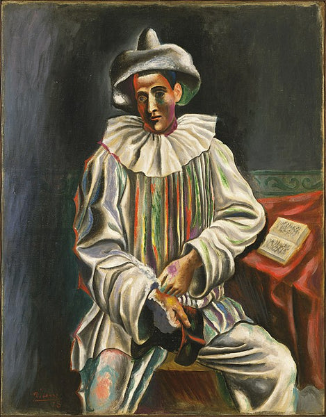 A painting of Pablo Picasso Pierrot