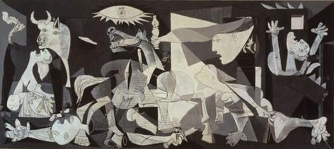 A painting of pablo Picasso Guernica
