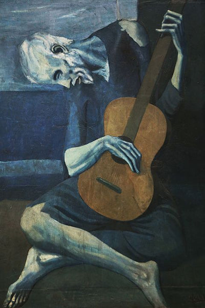 A painting of the old guitarist