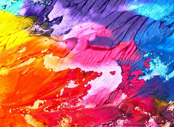 A photo of a multi colored abstract art background