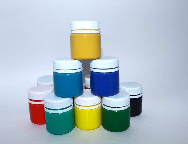 A photo of gouache paint for drawing