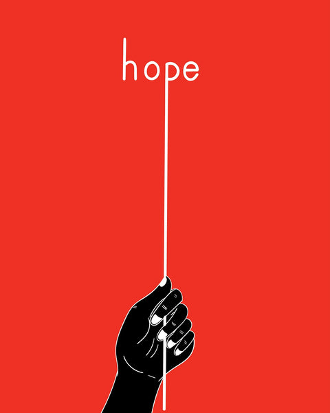 A representational photo of hope hand concept showing optimism