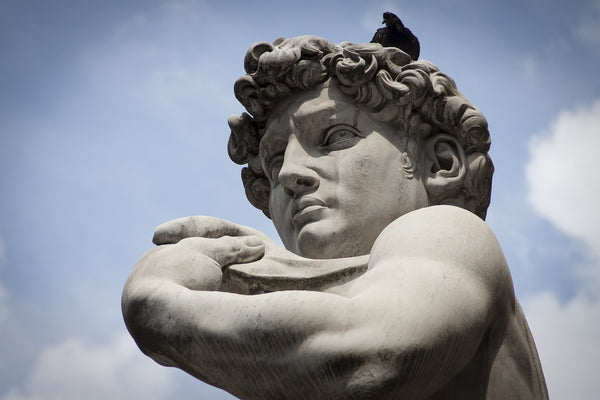 A sculpture by David Firenze in Florence Italy