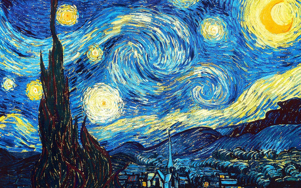 A starry night painting by Vincent van Gough