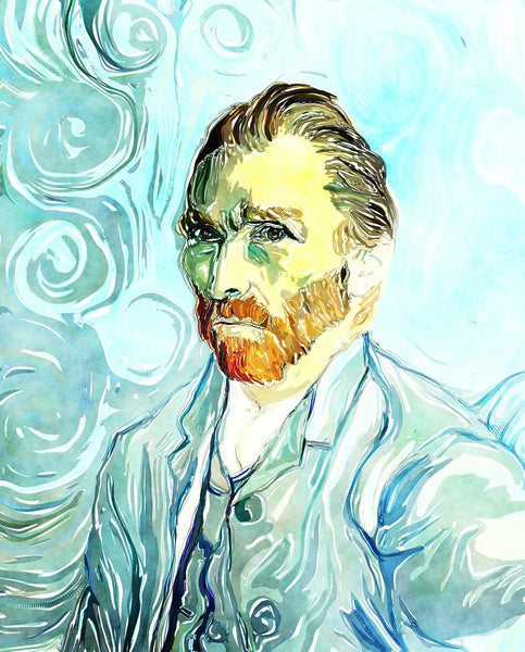 A water color art painting of vincent van gogh