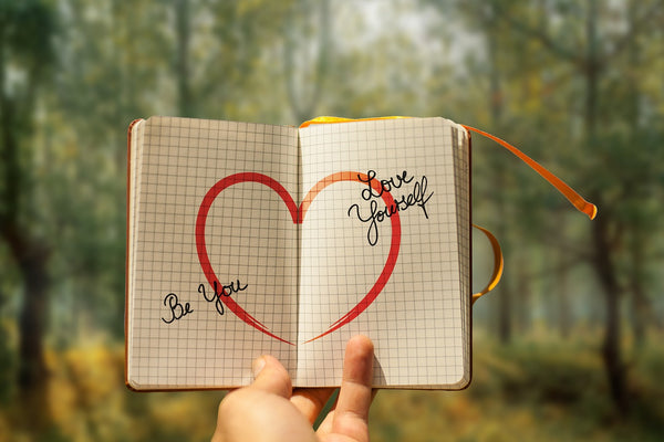 An image of love in a diary book