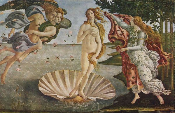 An oil painting of Venus by Sandro Botticelli
