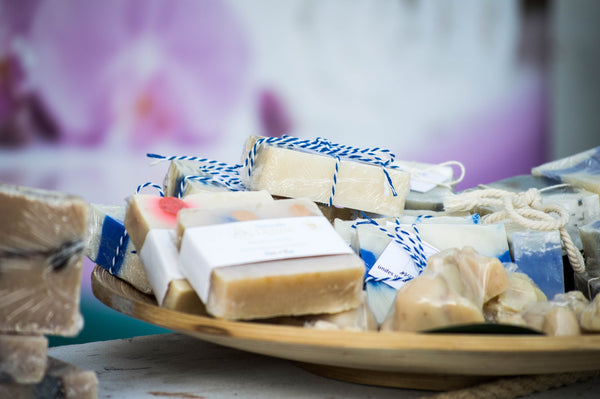 Bars of soap on a plate