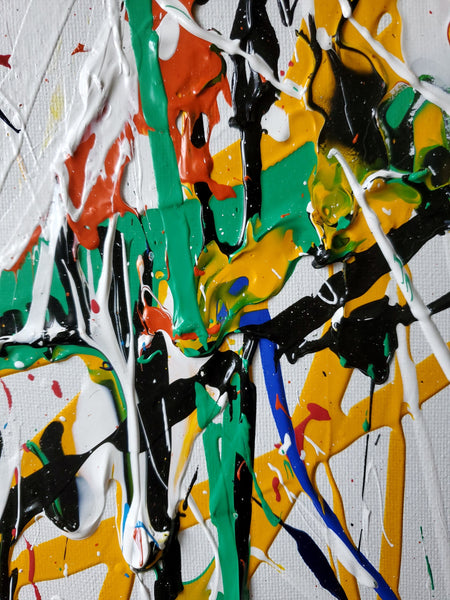 A primary colored abstract painting