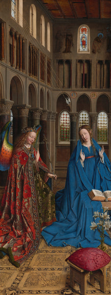 The painting of the annunciation by Jan van Eyck in 1937