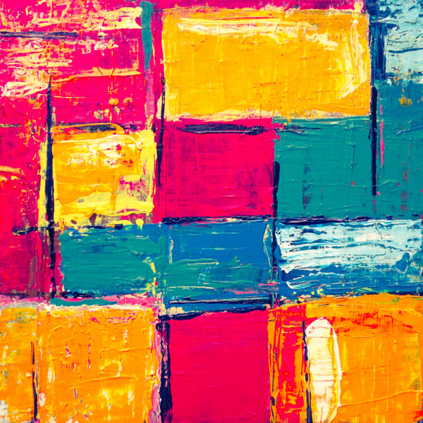 Abstract painting with different colors