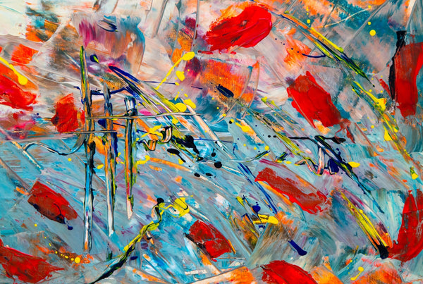 An abstract painting that will make you think