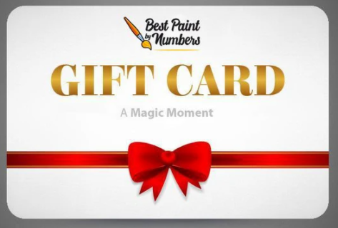The Best Paint by Numbers gift card