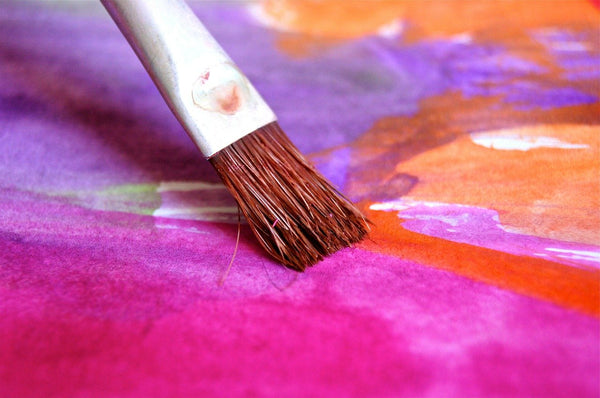 brush painting art with water color