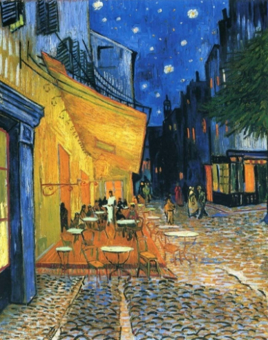Cafe Terrace Paint by Numbers painting