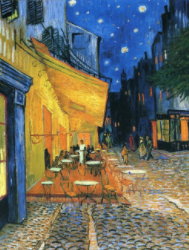 Café Terrace at Night Paint by Numbers
