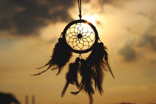 A dreamcatcher in the sunset