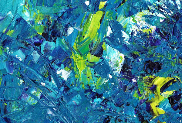 Abstract scraped painting