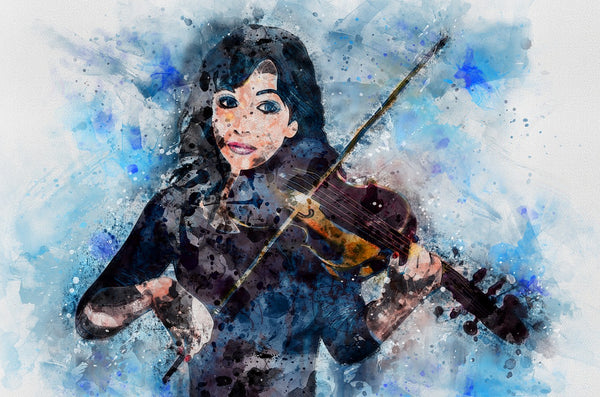 Illustration of a female violinist playing