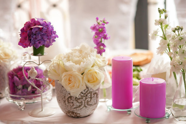 Interior decorations for a wedding
