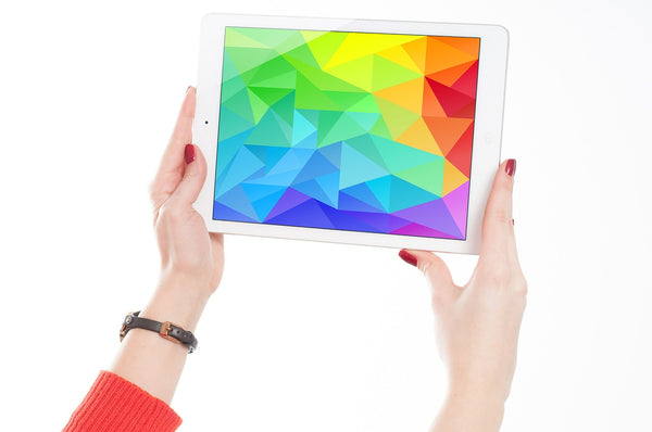 an iPad being used for online painting