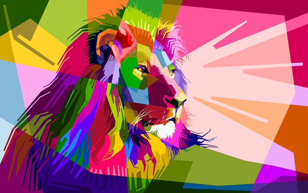A lion pop art from Best Paint by Numbers
