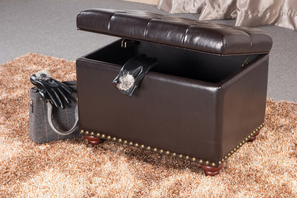 An ottoman chair used as furniture and storage