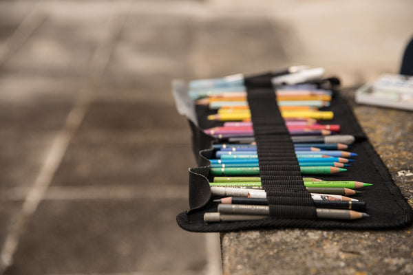 A set of colored pencils to be used for a masterpiece