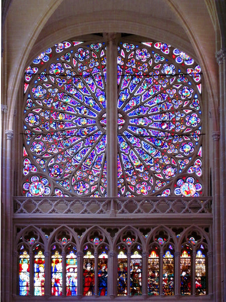 Rose window in a cathedral