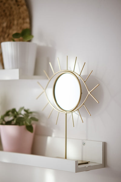A sunburst mirror that can be made from wood and glue