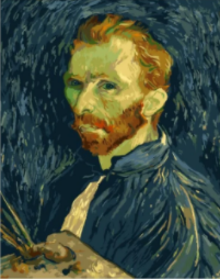 Van Gogh Self Portrait Paint by Numbers